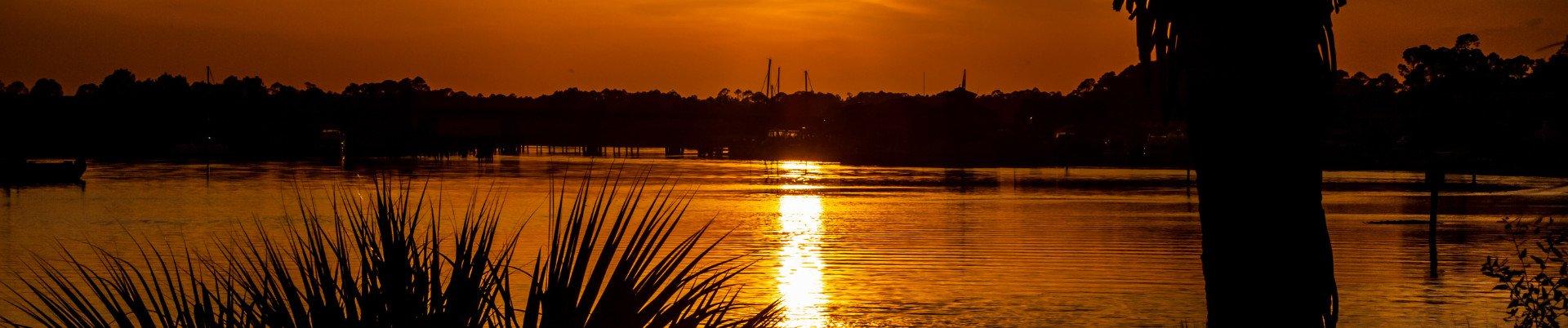 Carrabelle Florida Real Estate at sunrise