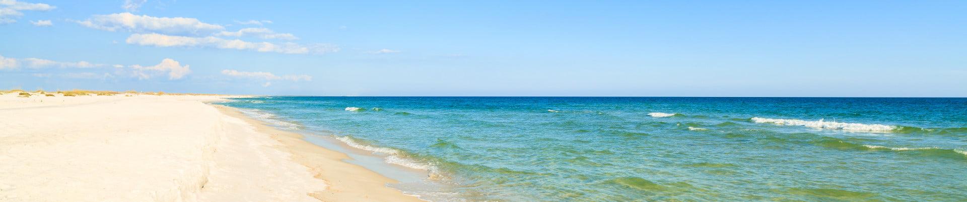 St George Island FL Sandy Beach and Water